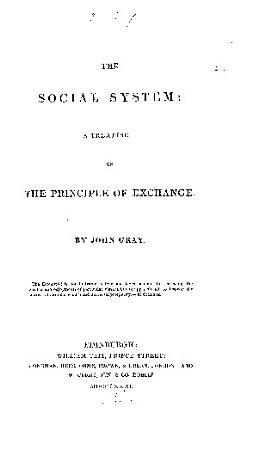 The Social System  a Treatise on the Principle of Exchange PDF