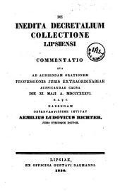 De inedita decretalium collectione Lipsiensi