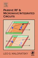 Passive RF and Microwave Integrated Circuits PDF
