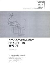 City government finances in ...