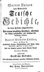 Teutsche Gedichte : in vier Bände abgetheilet