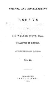 Critical and Miscellaneous Essays ...