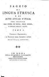Contiene i preliminari; e il trattato degli alfabeti e lingue degl'Itali antichi