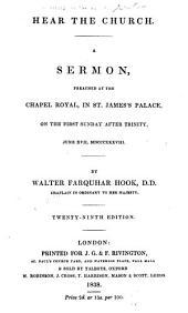 Hear the Church, a sermon: Volume 4