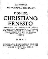 Iohann Christophori Libr. Bar. a Wolzogen Dissertatio academica de quaestione status