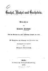 Gockel, Hinkel und Gackeleia: Märchen : nach dem Wortlaute der allein vollständigen Ausgabe von 1838