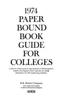 Paperbound Book Guide For Colleges
