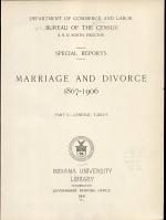 Marriage and Divorce, 1867-1906