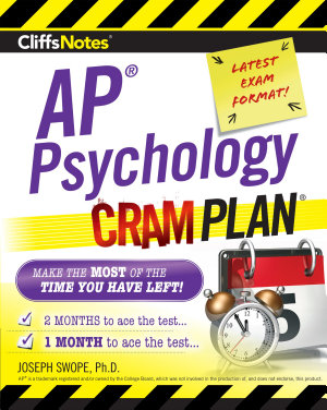 CliffsNotes AP Psychology Cram Plan