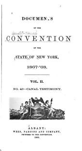 Documents of the Convention of the State of New York, 1867-68: Volume 2, Issue 40