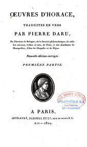Oeuvres complètes d'Horace: Volume1