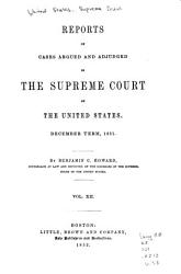 Reports Of Cases Argued And Adjudged In The Supreme Court Of The United States Book PDF