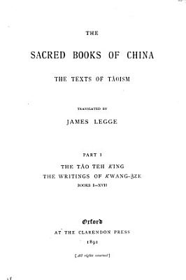 Sacred Books of the East  The sacred books of China  texts of Taoism  pt  2 PDF