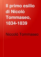 Il primo esilio di Nicolò Tommaseo, 1834-1839: lettere di lui a Cesare Cantù