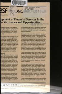 Development of Financial Services in the Asia Pacific