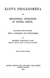 Kant's Prolegomena: And Metaphysical Foundations of Natural Science