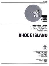 1977 Census of Retail Trade: Major Retail Centers in Standard Metropolitan Statistical Areas, Rhode Island