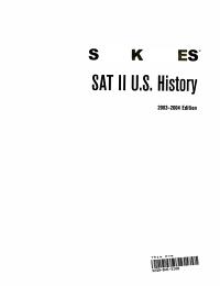 SAT II U  S  History