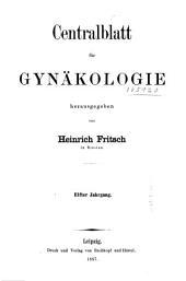 Zentralblatt für Gynäkologie: Band 11