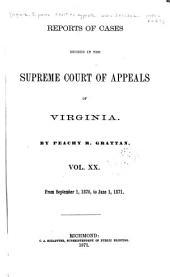 Cases Decided in the Supreme Court of Appeals of Virginia: Volume 61