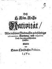 Des Heiligen Römischen Reichs Nativität