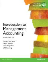 Introduction to Management Accounting Global Edition PDF