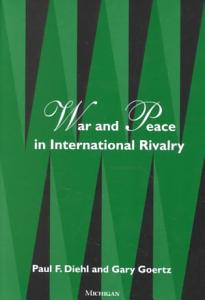 War and Peace in International Rivalry Book