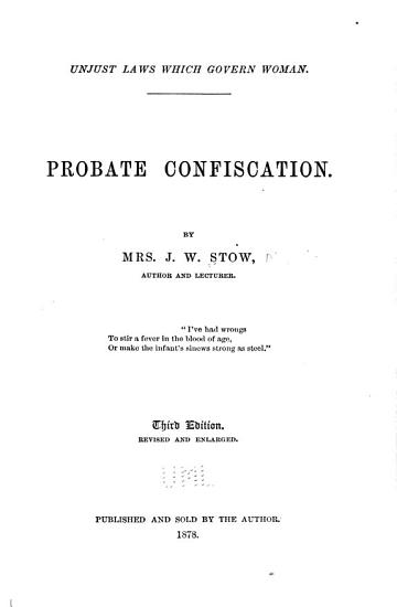 Probate Confiscation PDF