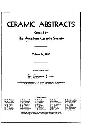 The Bulletin of the American Ceramic Society PDF