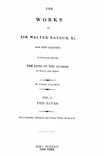 The Works of Sir Walter Raleigh