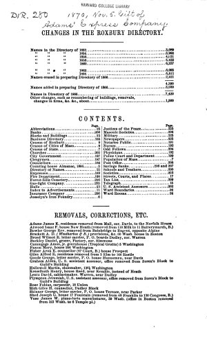 The Roxbury Directory