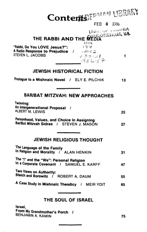 Journal of Reform Judaism PDF