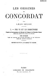 Les origines du Concordat: Volume1