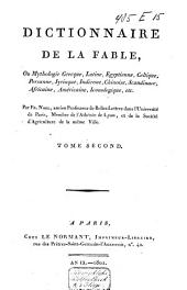 Dictionnaire de la fable: ou mythologie Grecque, Latine, Egyptienne, Celtique ...