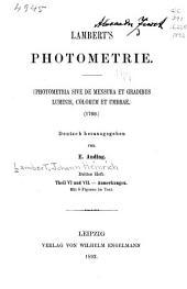 Lamberts Photometrie: Photometria, sive De mensura et gradibus luminus, colorum et umbrae (1760)