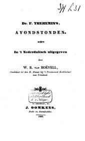 Dr. F. Theremin's Avondstonden