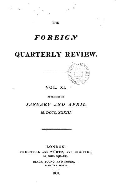 Download The Foreign quarterly review  ed  by J G  Cochrane   Book