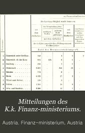 Mittheilungen des K.K. Finanz-Ministeriums: Band 13,Teil 2