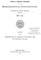 Bibliographical Contributions: Issues 12-15