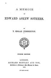 A Memoir of Edward Askew Sothern