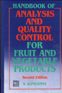 Handbook of Analysis and Quality Control for Fruit and Vegetable Products PDF