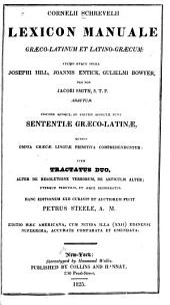 Lexicon manuale græco-latinvm et latino-græcum: Gulielmi Bowyer auctur