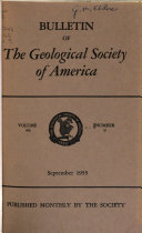 Download Bulletin of the Geological Society of America Book