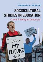 Sociocultural Studies in Education PDF