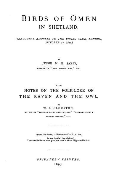 Download Birds of Omen in Shetland Book