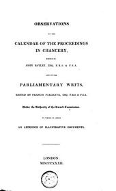 Observations on the Calendar of the Proceedings in Chancery