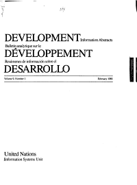 Development Information Abstracts