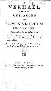Den aenstaenden zegeprael der hoofd-kerk van den H. Bavo te Gent, met de naemen des eerweerde heeren, die De la Bruë afgevallen zijn