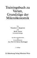 Trainingsbuch zu Varian  Grundz  ge der Mikro  konomik PDF