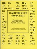 TEACH THE SHORT WORDS FIRST  The reading teacher s book of short word lists PDF